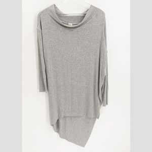 We The Free Grapevine Grey Asymmetrical Tunic Top
